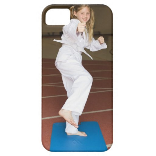 Girl practicing karate iPhone 5 cover