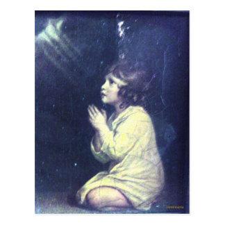 Girl prayer postcard