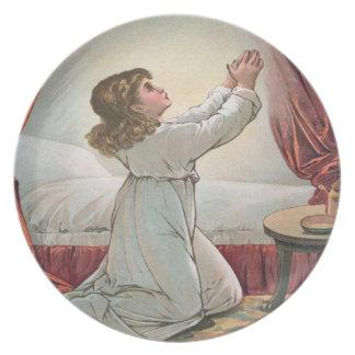 Girl Praying Plate