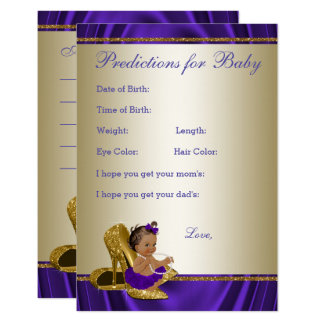 Girl Predictions and Advice Cards Girl Baby Shower