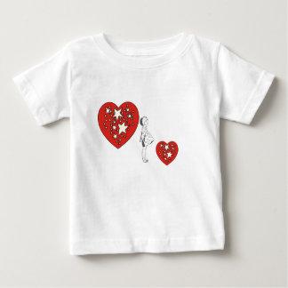 Girl Profile, Heart with Stars Shirt