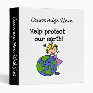 Girl Protect Our Earth T shirts and Gifts Binder