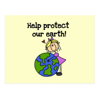 Girl Protect Our Earth T-shirts and Gifts Postcard
