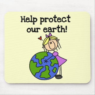 Girl Protect Our Earth Tshirts and Gifts Mouse Pad