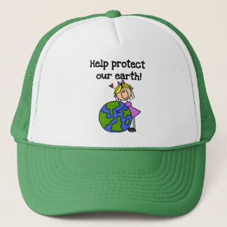 Girl Protect Our Earth Tshirts and Gifts Trucker Hat