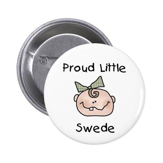 Girl Proud Swedish Baby Button