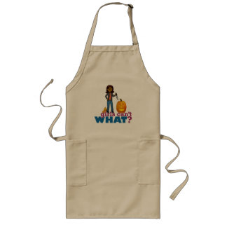 Girl Pumpkin Carver Long Apron