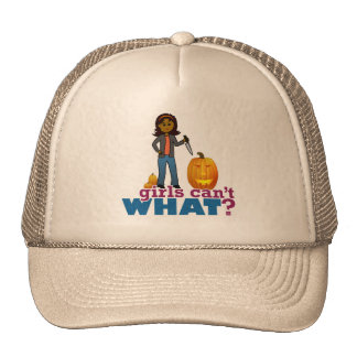 Girl Pumpkin Carver Trucker Hat