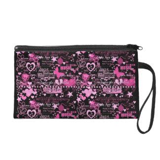 Girl Punk Rock Skull & Hearts Bag