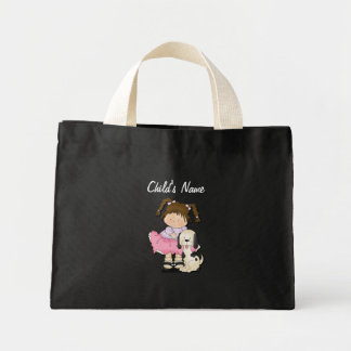 Girl & Puppy (Child's Bag) Mini Tote Bag