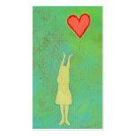 Girl reaching sweet hopeful art fun girly painting business card template