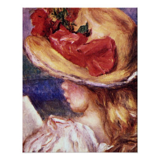 Girl Reading2 by Pierre Renoir Posters