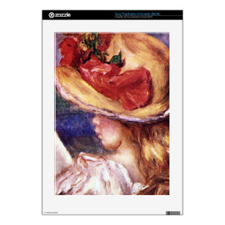 Girl Reading2 by Pierre Renoir Skins For PS3 Console