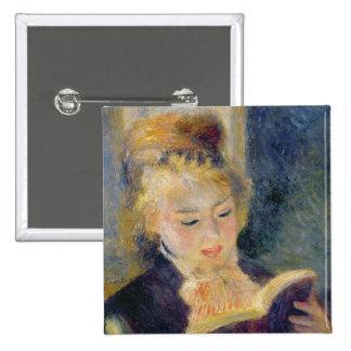 Girl Reading, 1874 Pinback Button