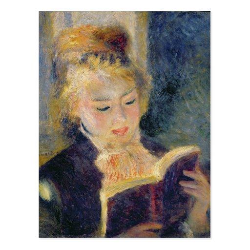 Girl Reading, 1874 Post Card