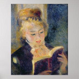 Girl Reading, 1874 Print