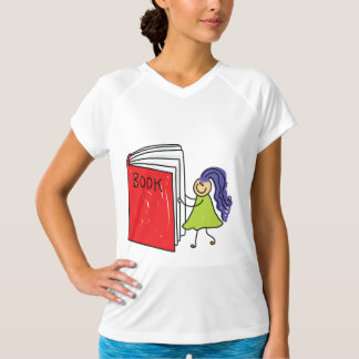 Girl Reading A Book Womens Active Tee