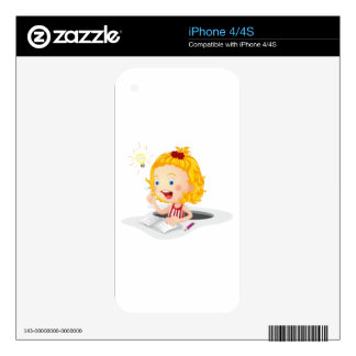 girl reading book decal for iPhone 4S