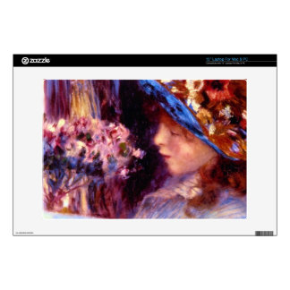Girl Reading by Pierre Renoir Decals For Laptops