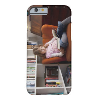 Girl reading by the bookshelf barely there iPhone 6 case