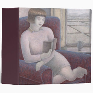 Girl Reading in Armchair 2009 Binder