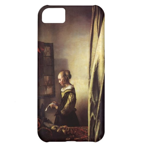Girl Reading Letter at Window by Johannes Vermeer iPhone 5C Cases