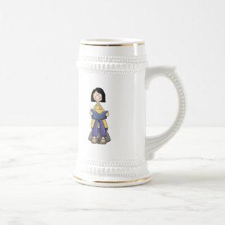 Girl Reading Coffee Mugs