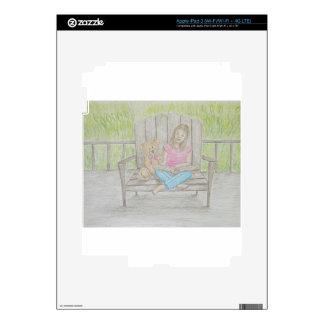 girl reading skin for iPad 3