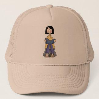 Girl Reading Trucker Hat