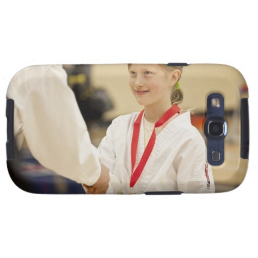 Girl receiving a medal at a Karate championship Galaxy SIII Covers