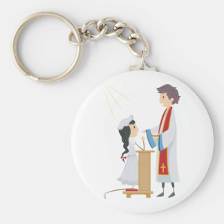 Girl Receiving Communion Keychain