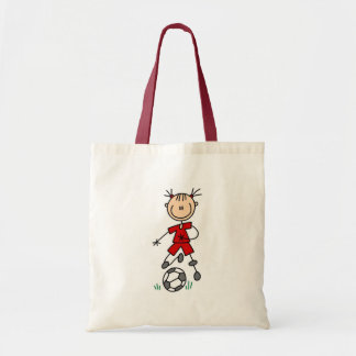 Girl Red Soccer Uniform Canvas Bags