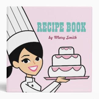 Girl Retro Bakery Illustrated Recipe Binder