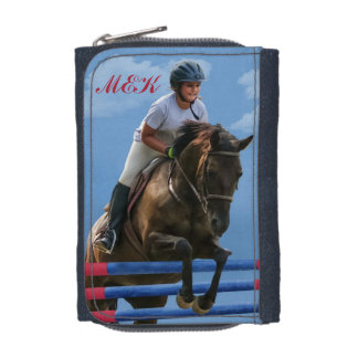 Girl Rider and Show Jumping Horse Wallet