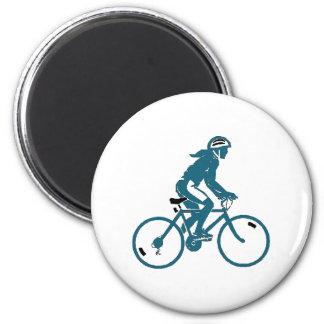 Girl Riding a Bike Magnet