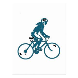 Girl Riding a Bike Postcard