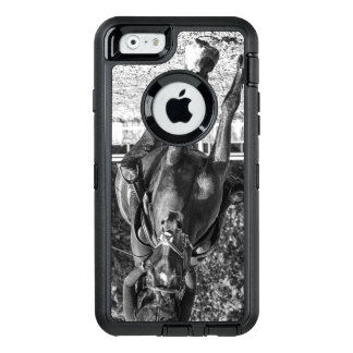 Girl riding a horse professionally OtterBox defender iPhone case
