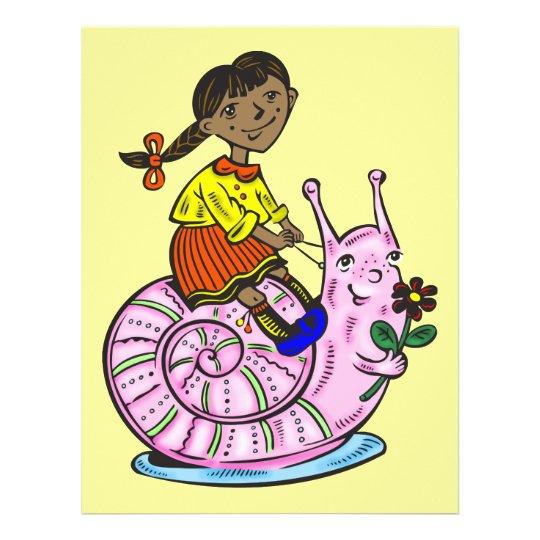 Girl Riding A Snail Flyer