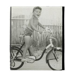 Girl Riding Bicycle iPad Case