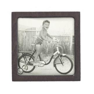 Girl Riding Bicycle Jewelry Box
