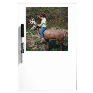 Girl Riding Deer Target Dry-Erase Board
