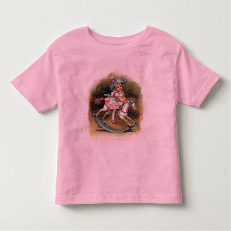 Girl Riding Rocking Horse Toddler T-shirt