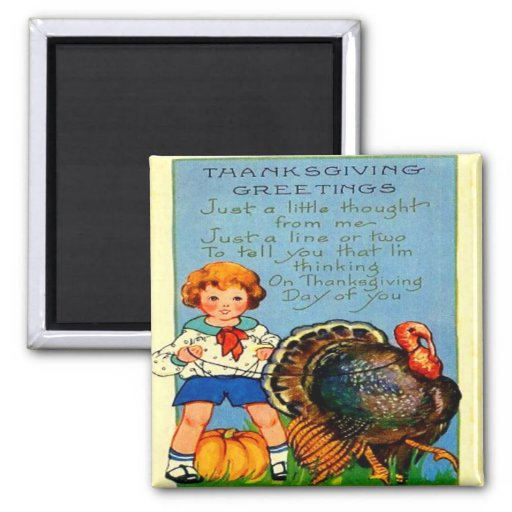 Girl Riding Turkey 2 Inch Square Magnet