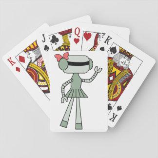 Girl Robot Playing Cards