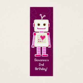Girl Robot Thank You Gift Tags