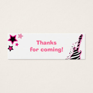 Girl Rock Star Baby Shower Favor Gift Tags