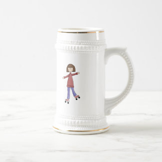 Girl Rollerskating Coffee Mug