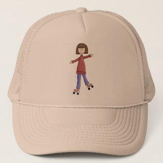 Girl Rollerskating Trucker Hat