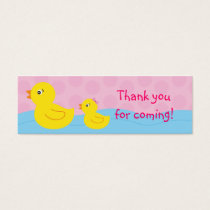 Girl Rubber Ducky Duck Goodie Bag Tags Gift Tags