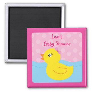 Girl Rubber Ducky Duck Party Favor Magnets